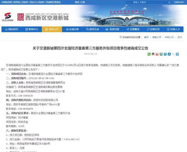 2018年8月15日,休闲管理学院成功中标第四次全国经济普查空港